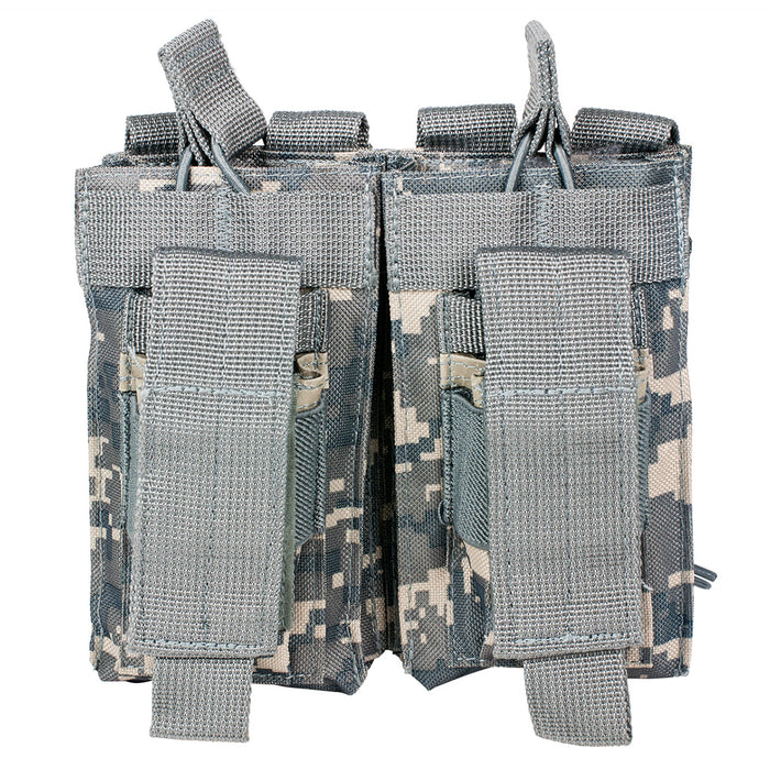 NcStar CVAR2MP2927D VISM Adjustable AR Double Magazine PALS Pouch, Digital Camo