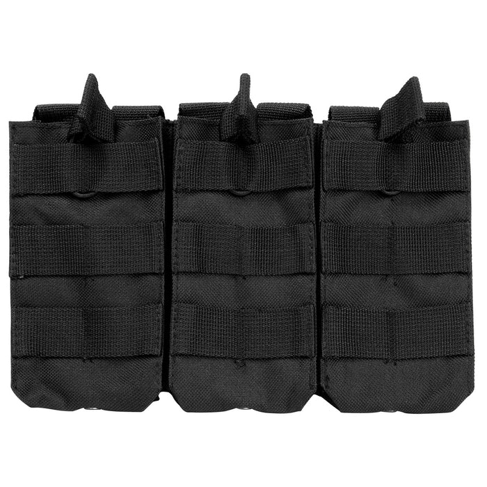 NcStar CVAR3MP2928B VISM Adjustable AR Triple Magazine PALS Pouch, Black