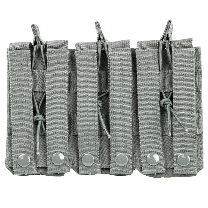 NcStar CVAR3MP2928U VISM Adjustable AR Triple Magazine PALS Pouch, Urban Gray