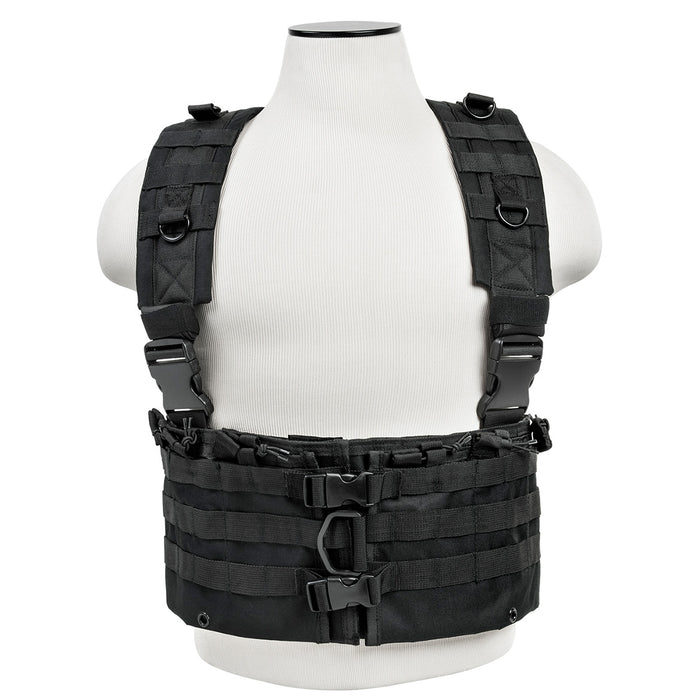 NcStar CVARCR2922B VISM Series Fully-Adjustable AR Chest Rig, Black