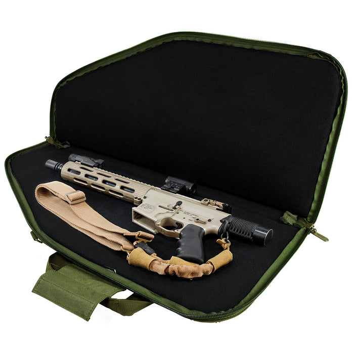 NcStar CVCP2961G-28 28-Inch x 13-Inch Tactical Pistol Case, Green
