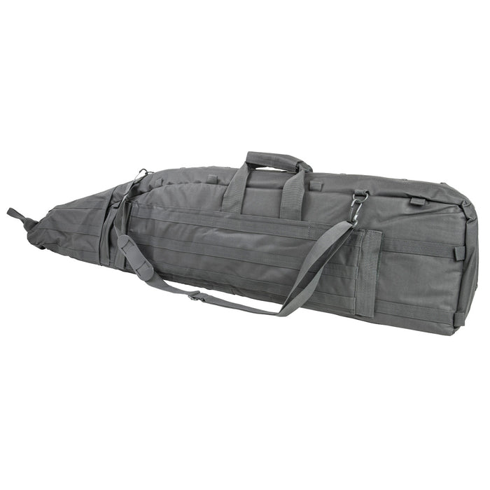 NcStar CVDB2912U VISM Series Padded Panel PVC Double Rifle Drag Bag, Urban Gray