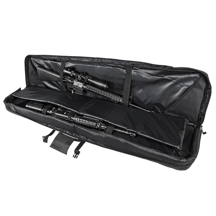 NcStar CVDC2946B-55 VISM Series Double Carbine PVC Case - Black, 55-Inch