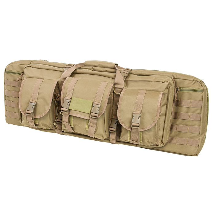 NcStar CVDC2946T-36 VISM Series Double Carbine PVC Case - Tan, 36-Inch