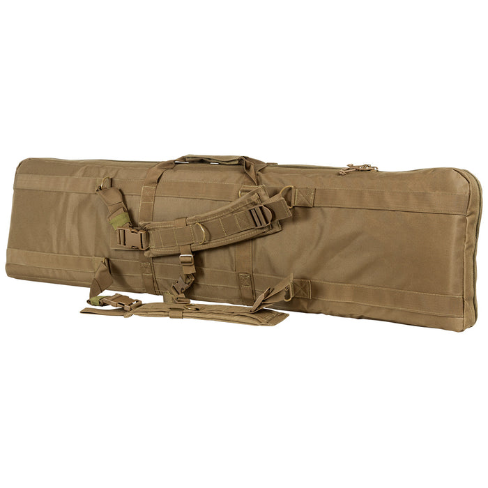 NcStar CVDC2946T-46 VISM Series Double Carbine PVC Case - Tan, 46-Inch