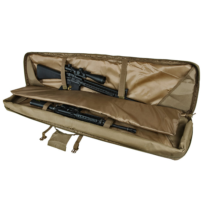 NcStar CVDC2946T-55 VISM Series Double Carbine PVC Case - Tan, 55-Inch