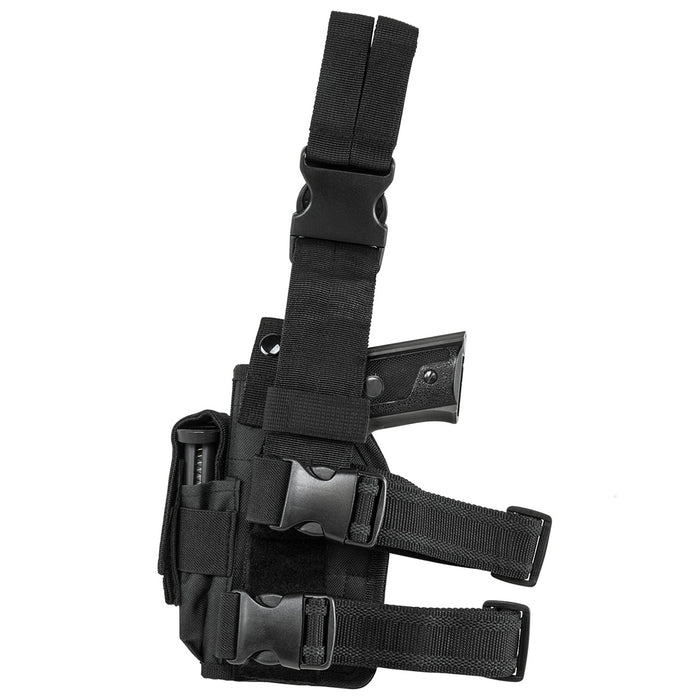 NcStar CVDLHOL2954B VISM Right Handed Universal Drop Leg Holster, Black