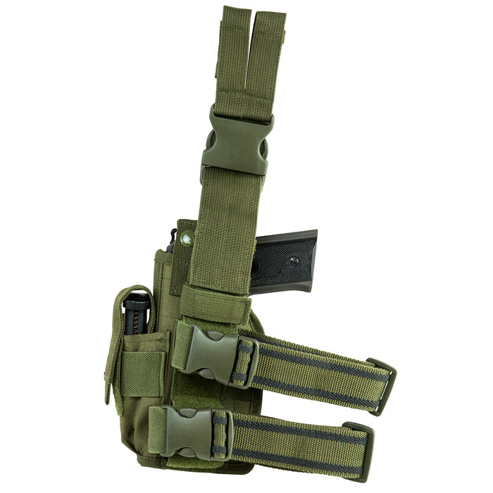 NcStar CVDLHOL2954G VISM Right Handed Universal Drop Leg Holster, Green