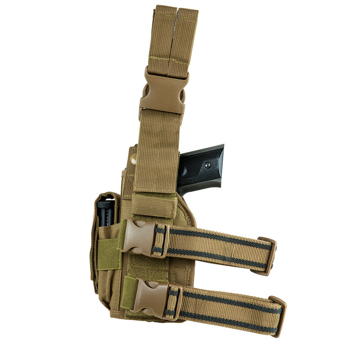 NcStar CVDLHOL2954T VISM Right Handed Universal Drop Leg Holster, Tan
