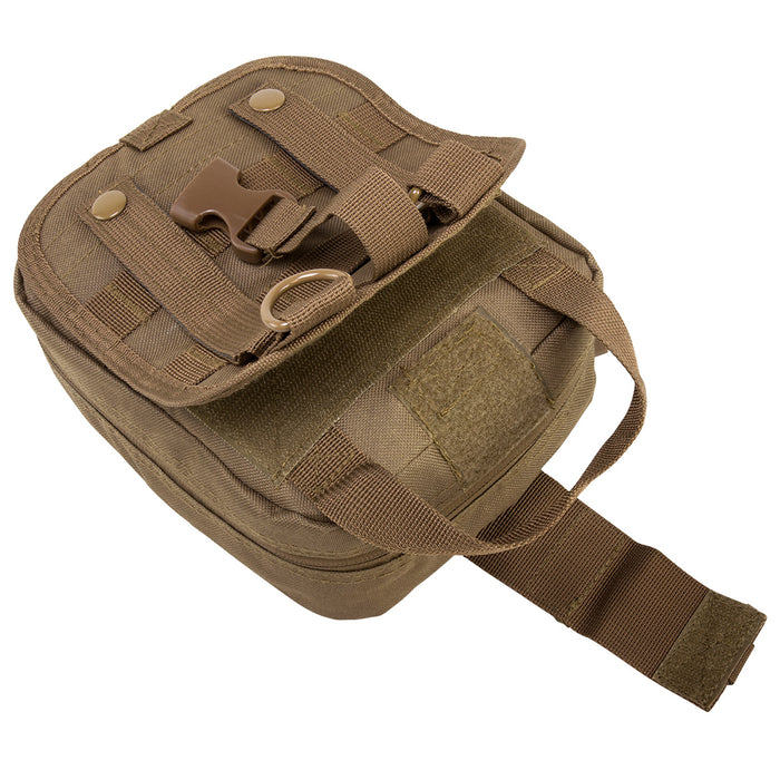NcStar CVEMT2970T 8-Inch Double Zippered Tri-Fold MOLLE EMT Pouch, Tan