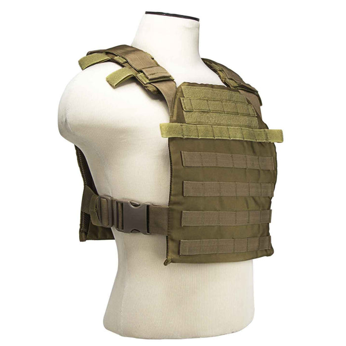 NcStar CVPCF2995T 10-Inch x 12-Inch MOLLE Fast Plate Carrier Vest - Tan