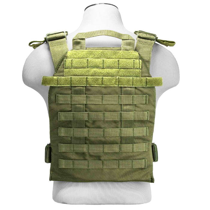 NcStar CVPCFL2995G 11-Inch x 14-Inch MOLLE Fast Plate Carrier Vest - Green