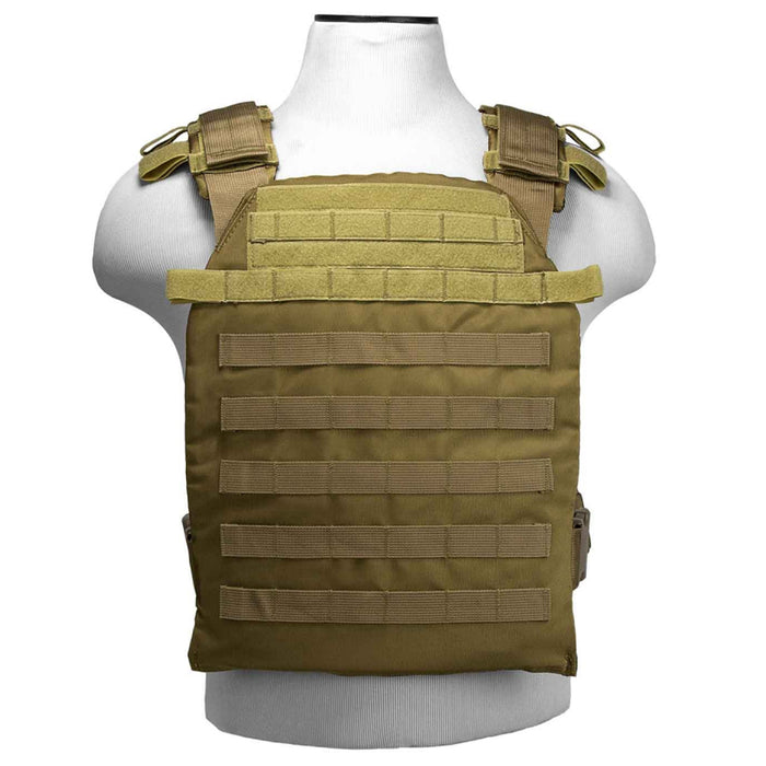 NcStar CVPCFL2995T 11-Inch x 14-Inch MOLLE Fast Plate Carrier Vest - Tan