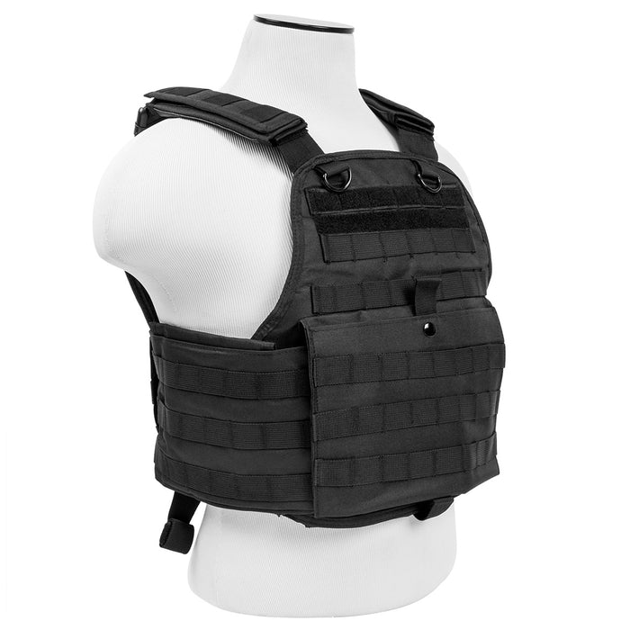 NcStar CVPCV2924B VISM Series Fully-Adjustable Plate Carrier, Med-2XL, Black