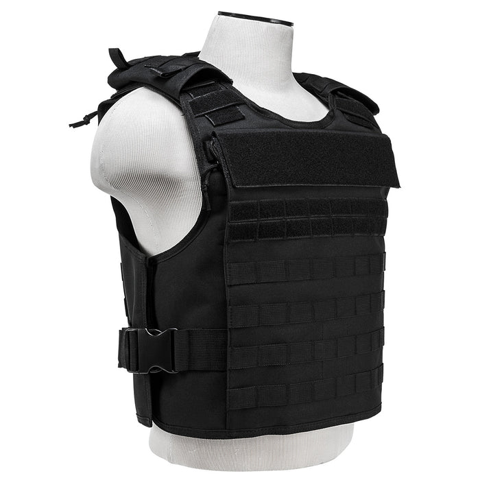 NcStar CVPCVEP2984B VISM Series Plate Carrier w/ Pockets, Med-2XL - Black