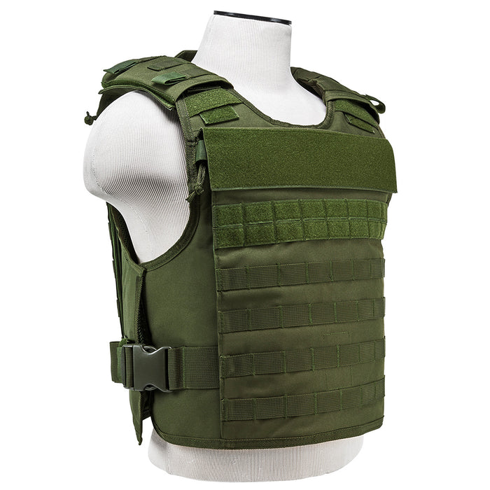 NcStar CVPCVEP2984G VISM Series Plate Carrier w/ Pockets, Med-2XL - Green