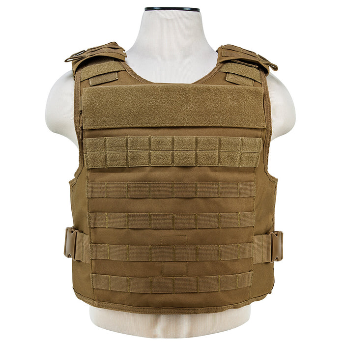 NcStar CVPCVEP2984T VISM Series Plate Carrier w/ Pockets, Med-2XL - Tan