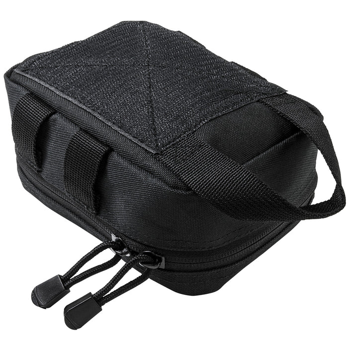 NcStar CVSEMT2988B 7-inch Double Zippered MOLLE EMT Small Pouch, Black