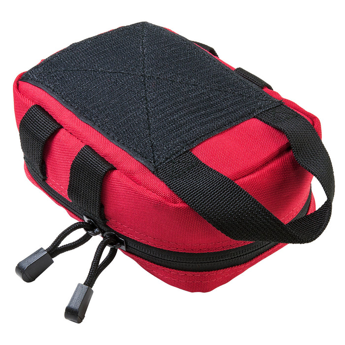 NcStar CVSEMT2988R 7-inch Double Zippered MOLLE EMT Small Pouch, Red