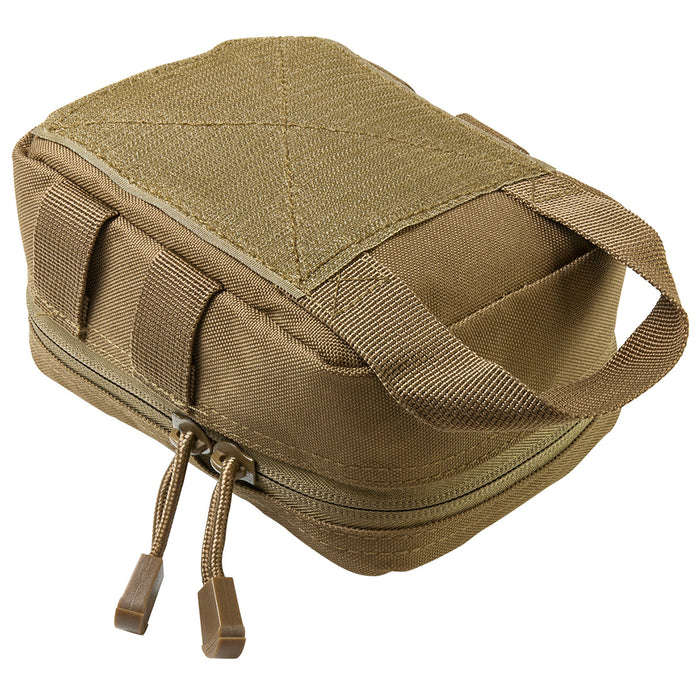 NcStar CVSEMT2988T 7-inch Double Zippered MOLLE EMT Small Pouch, Tan