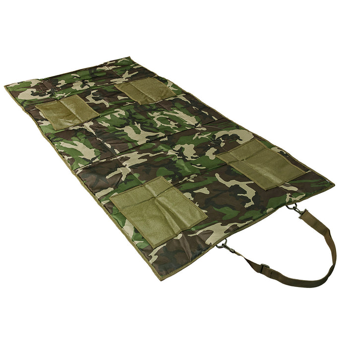 NcStar CVSHMR2957WC VISM Slip Resistant Roll-Up Shooting Mat, Woodland Camo