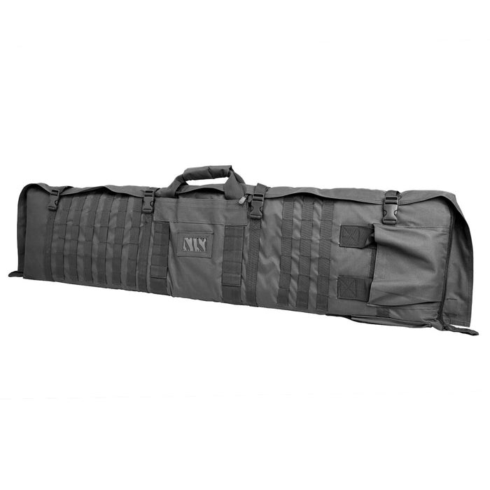 NcStar CVSM2913U VISM Series Deluxe Shooting Mat/ Double Rifle Case, Urban Gray