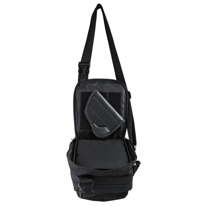 NcStar CVSTCHL2999B VISM CCW Adjustable Shoulder Carrying Satchel - Black