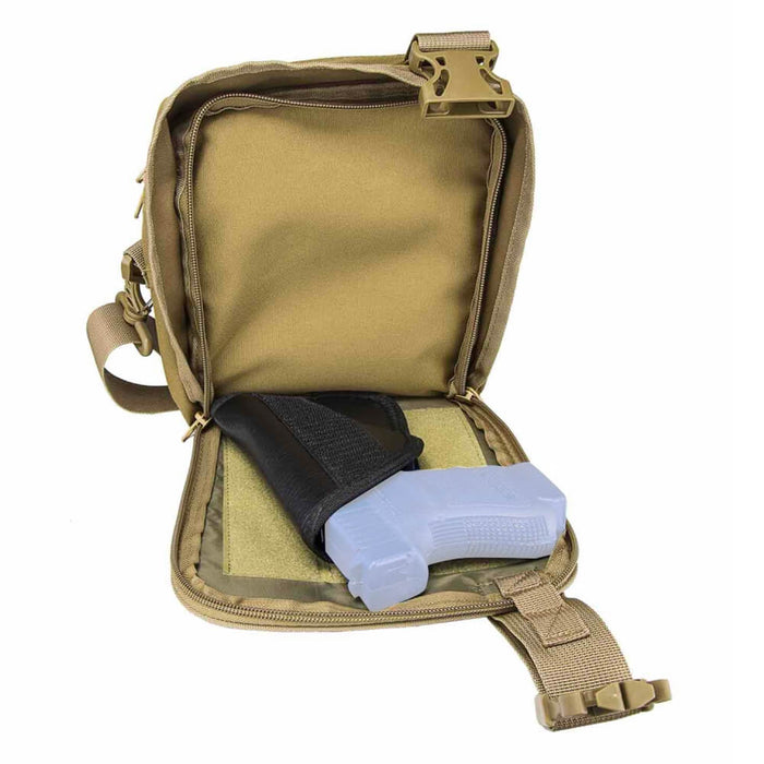 NcStar CVSTCHL2999T VISM CCW Adjustable Shoulder Carrying Satchel - Tan
