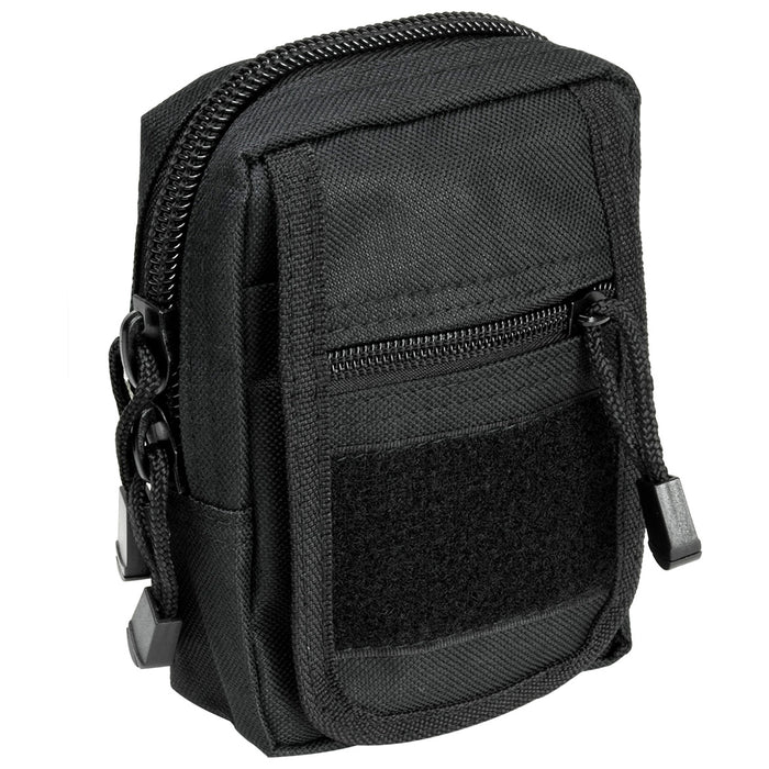 NcStar CVSUP2934B 6-1/2-Inch Quick-Flap MOLLE Small Utility Pouch, Black