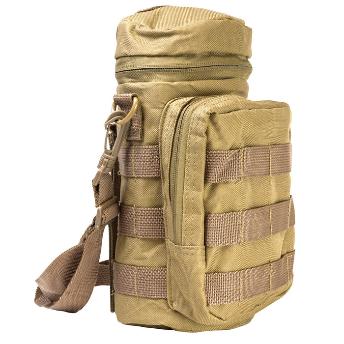NcStar CVWBC2948T 10-Inch x 4-Inch VISM Water Bottle MOLLE Carrier, Tan