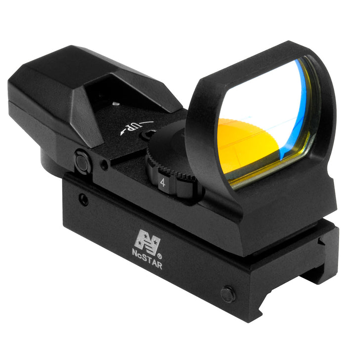 NcStar D4B Multi-Mount Ruby Lens Multi-Reticle Red Dot Reflex Sight, Black