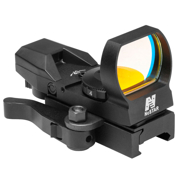 NcStar D4BGQ Quick Release Multi-Reticle Green Dot Reflex Sight, Black