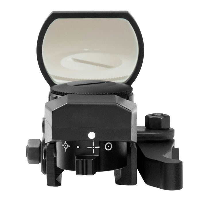 NcStar D4BLQ Quick Release Multi-Reticle Blue Dot Reflex Sight, Black