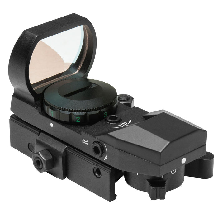 NcStar D4BQ Quick Release Multi-Reticle Red Dot Reflex Sight, Black