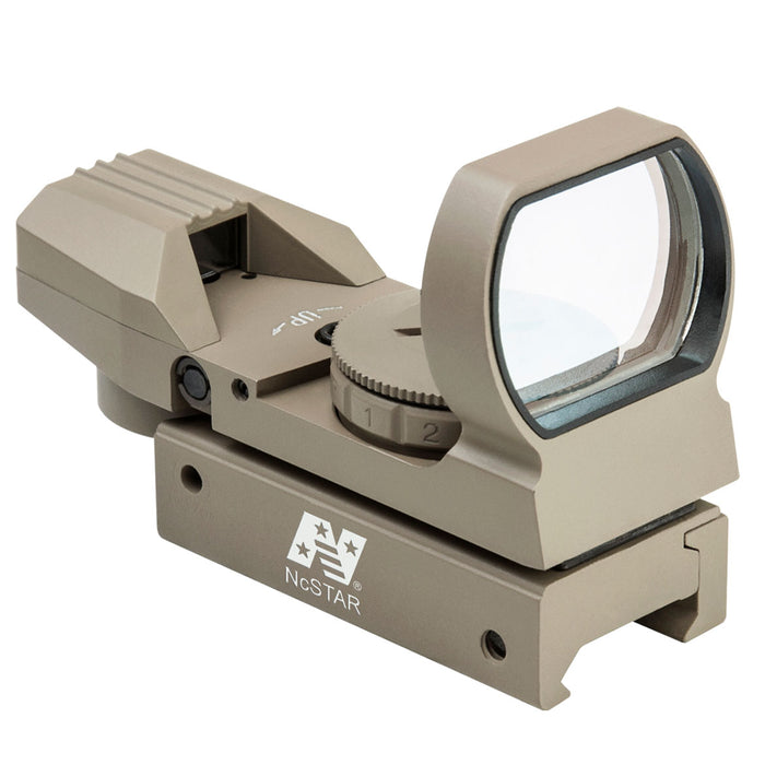 NcStar D4RGT Multi-Mount Multi-Reticle Red and Green Dot Reflex Sight, Tan
