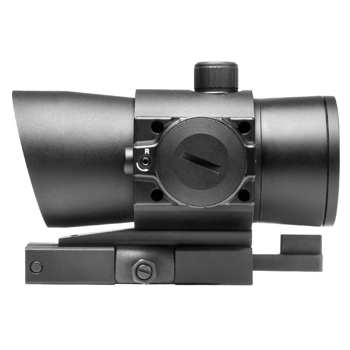 NcStar DLB140R 1x40mm Quick-Release Integrated Red Laser Red Dot Sight, Black
