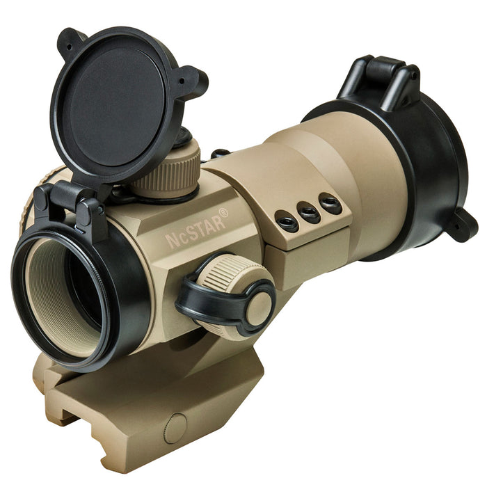 NcStar DRGB135T 1x35mm Cantilever Mount Tactical Red/Green/Blue Dot Sight, Tan