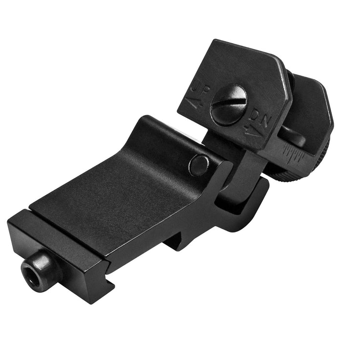 NcStar MAR45FLR 45-Degree Offset Fully Adjustable Flip-Up Rear Iron Sight