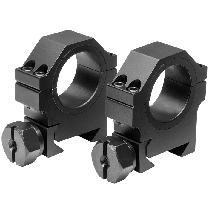 NcStar RB26 30mm x 0.9-Inch Multi-Mounting Aluminum Optics Rings, Black