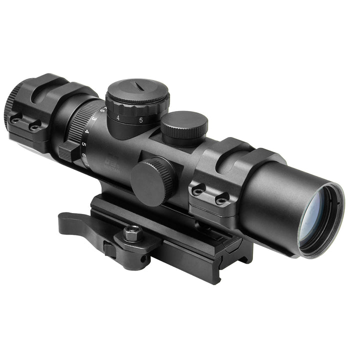 NcStar SECXRSM2732G 2-7x32mm XRS Series Blue Illuminated Mil-Dot Compact Scope