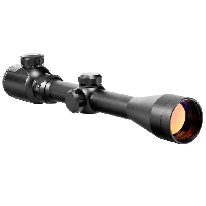 NcStar SEFB3940R 3-9x40mm Shooter Series Red Illuminated Full P4 Sniper Scope