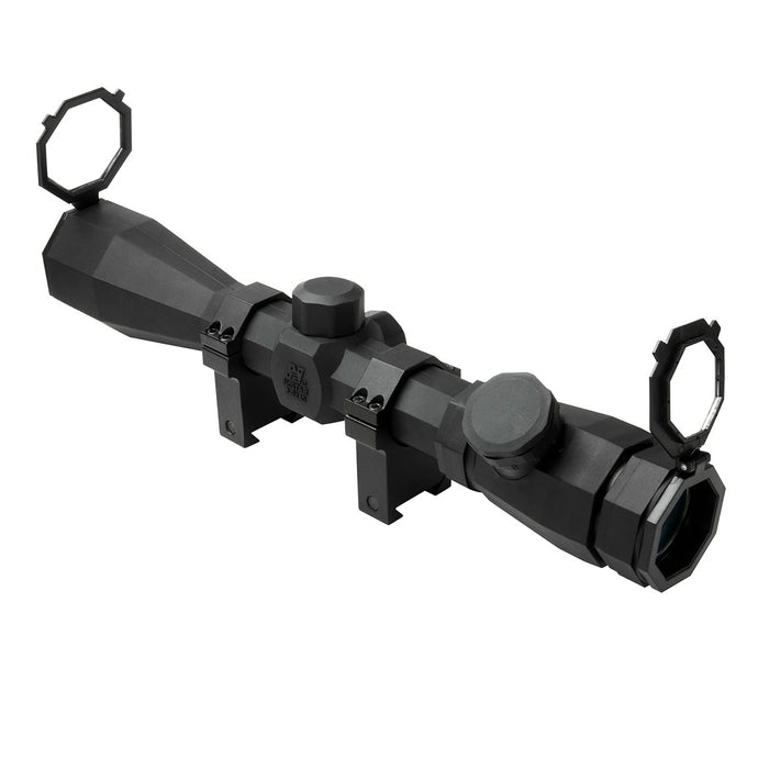 NcStar SOCTP3940G 3-9x40mm Rubber Armored Green P4 Sniper Octagon Scope