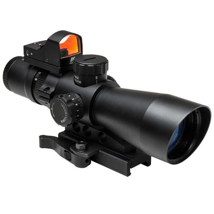 NcStar STM3942GDV2 3-9x42mm Gen II Red Mil-Dot Ultimate Sighting System Combo
