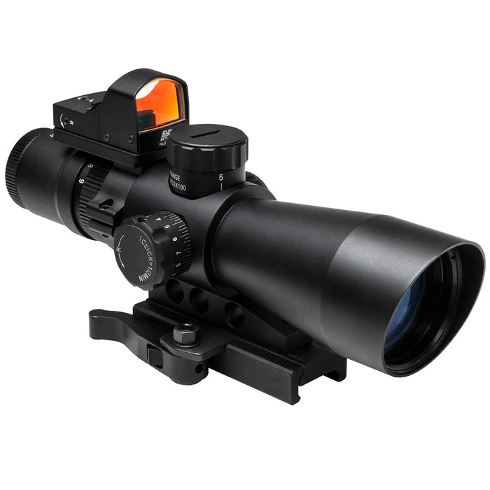 NcStar STP3942GDV2 3-9x42mm Gen II Red P4 Sniper Ultimate Sighting System Combo