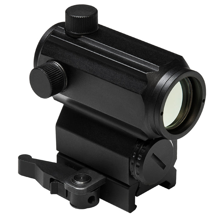 NcStar VDBRB 1x25 Aluminum Micro Red and Blue Dot Reflex Optic Sight, Black