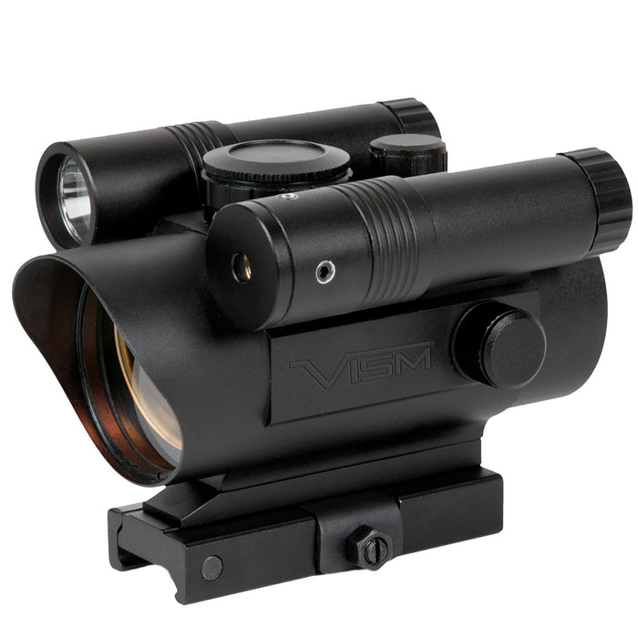 NcStar VDFLGQ142 1x42mm Quick Release Green Laser Red Dot Sight Combo