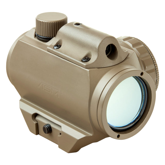 NcStar VDGRLT 1x25mm Integrated Red Laser Micro Green Dot Reflex Sight, Tan