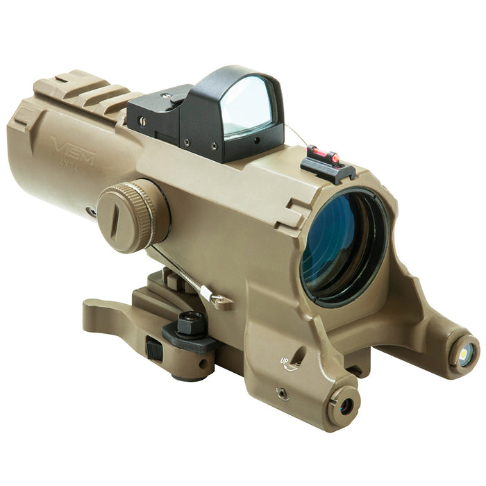 NcStar VECO434QRTG-A 4x34mm Micro Red Dot Prismatic Scope Combo , Tan
