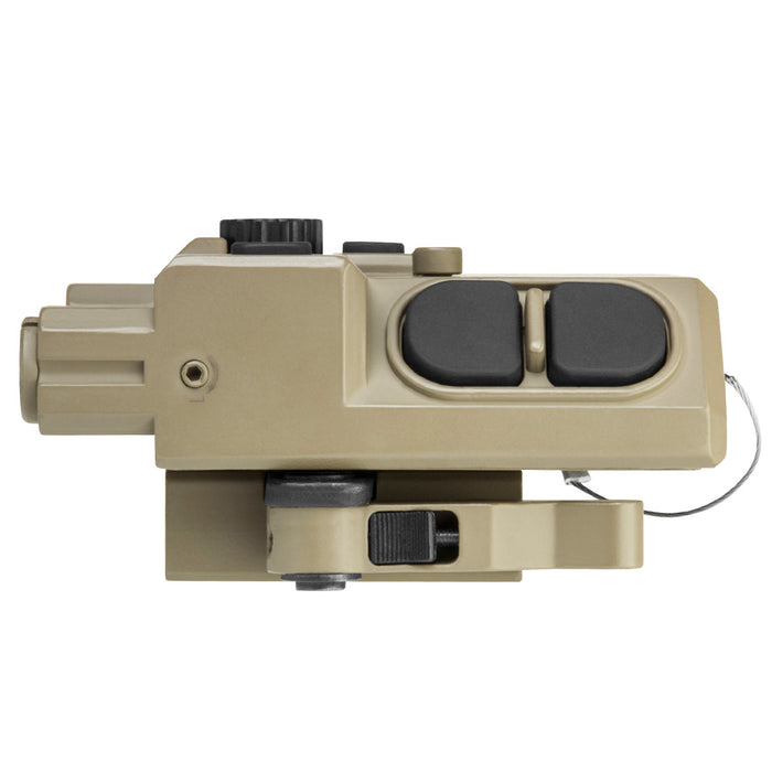 NcStar VLG4NVQRT Quick Release Multi-Color LED NAV Green Laser Combo, Tan