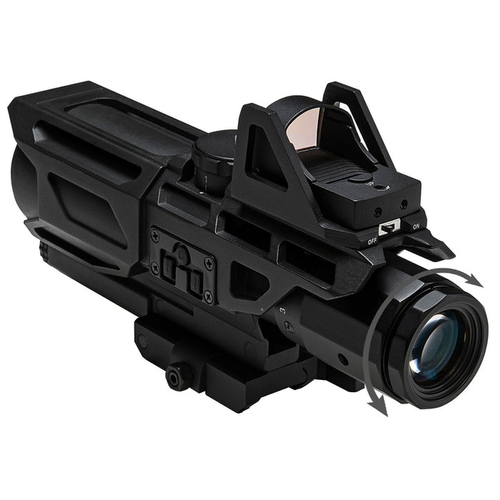 NcStar VSTM3940GDV3 3-9x40mm Mil-Dot GEN III Ultimate Sighting System, Black